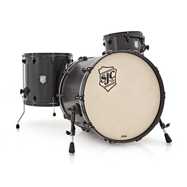 SJC Drums Tour Series 3 Piece Shell , Black HW