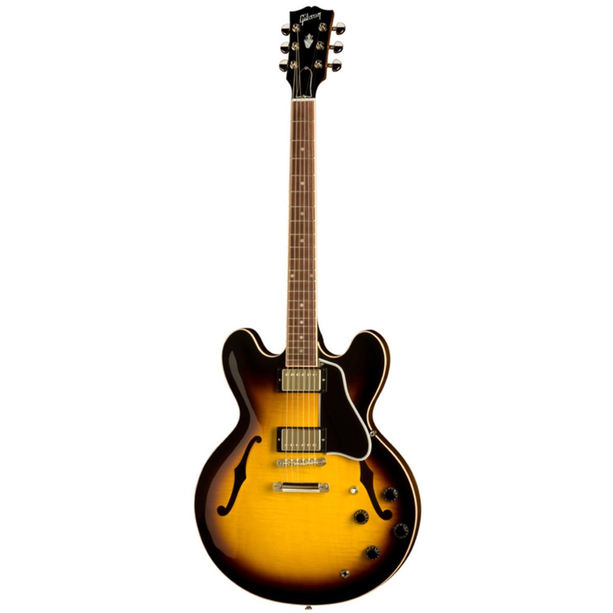 gibson es 335 dot plaintop guitar vintage sunburst at. Black Bedroom Furniture Sets. Home Design Ideas