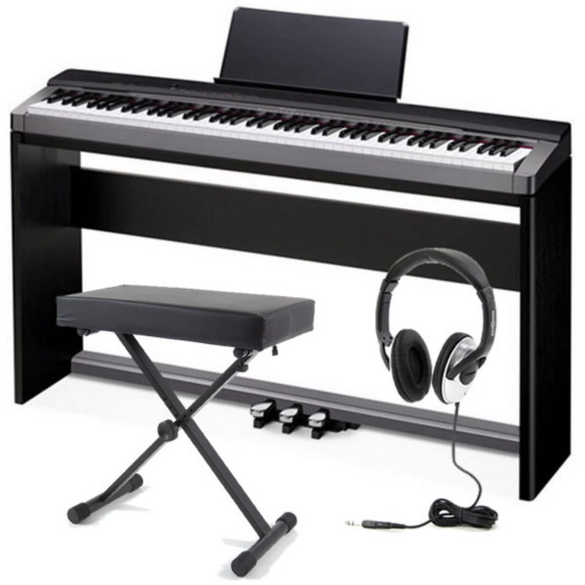 disc casio privia px 130 digital piano with stand bench and pedalboard at gear4music. Black Bedroom Furniture Sets. Home Design Ideas