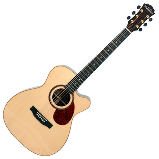 Freshman FA400GAC Grand Aud. CA Electro Acoustic Guitar, Natural