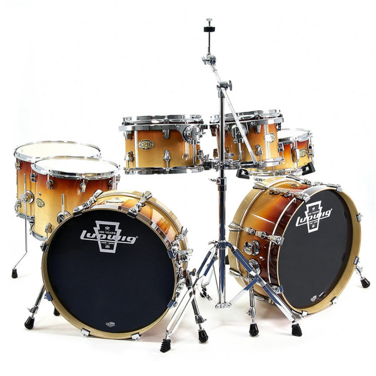 Ludwig Epic Modular Drum Kit In Tobacco Fade At Gear4music