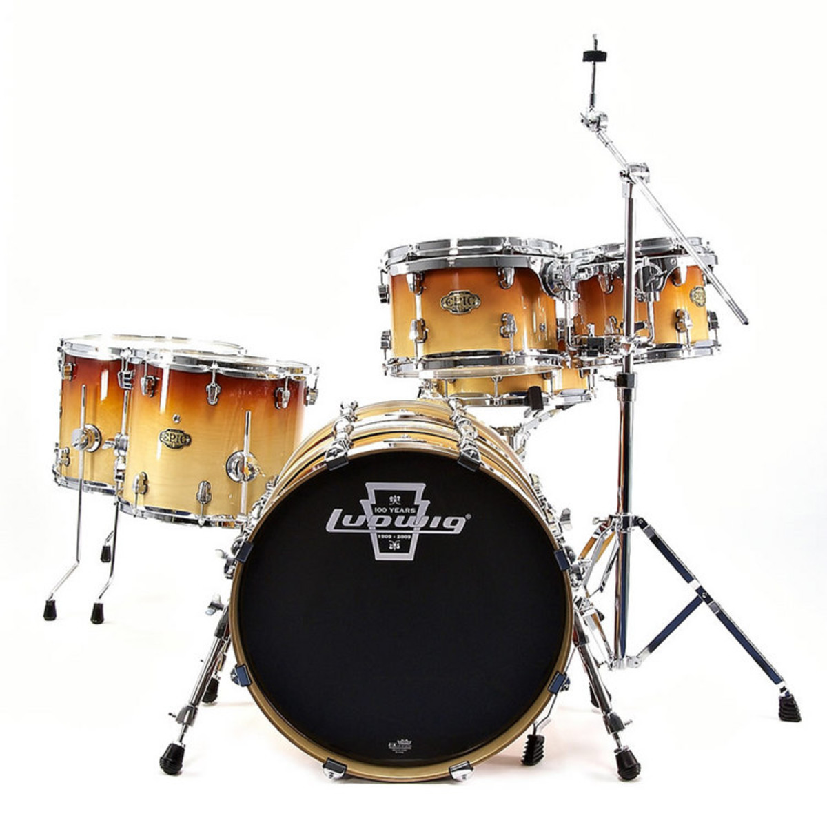 ludwig epic modular drum kit in tobacco fade at gear4music. Black Bedroom Furniture Sets. Home Design Ideas