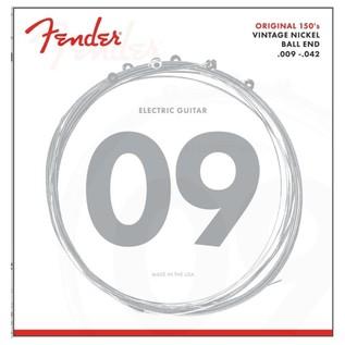 Fender 150L Pure Nickel Ball End Guitar Strings, 9-42