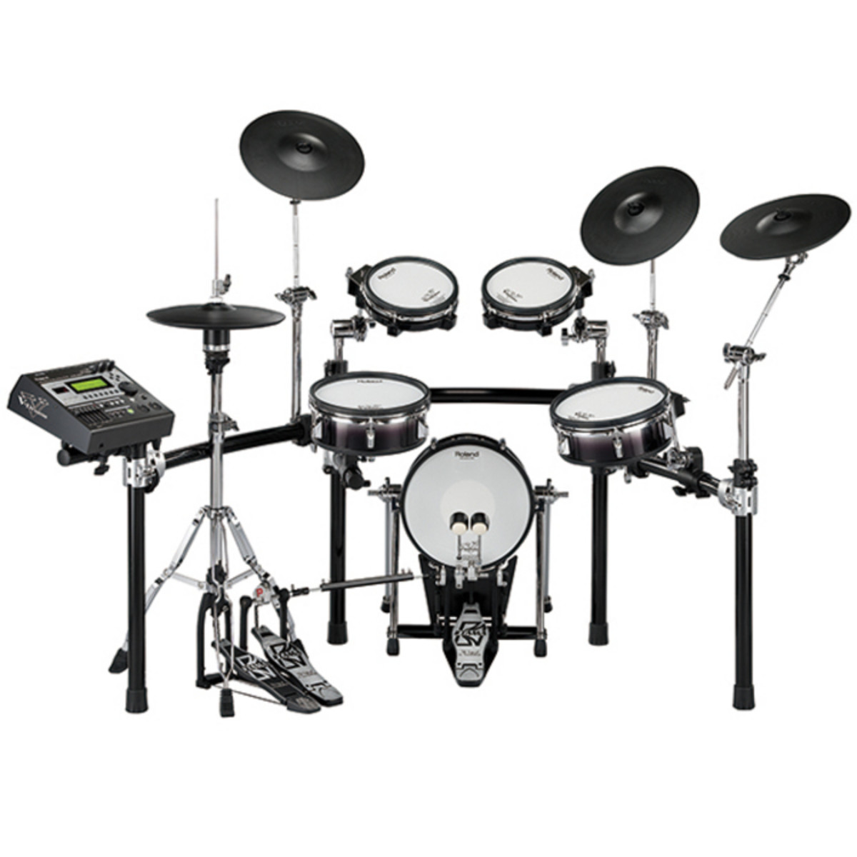 roland td 12kx v drum batterie electronique noir. Black Bedroom Furniture Sets. Home Design Ideas