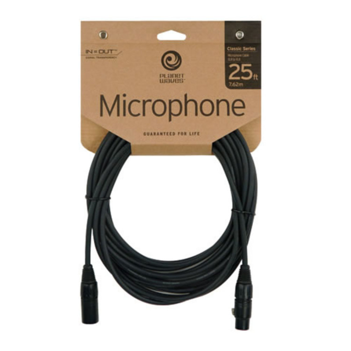 Planet Waves Classic XLR (M) to XLR (F) Microphone Cable 25ft at ...