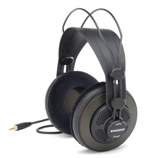 Samson SR850 Pro Studio Headphones, Front Angled Left