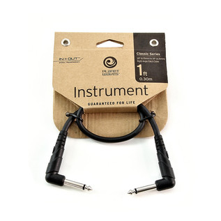 Planet Waves Classic Right Angle Patch Cable 1ft