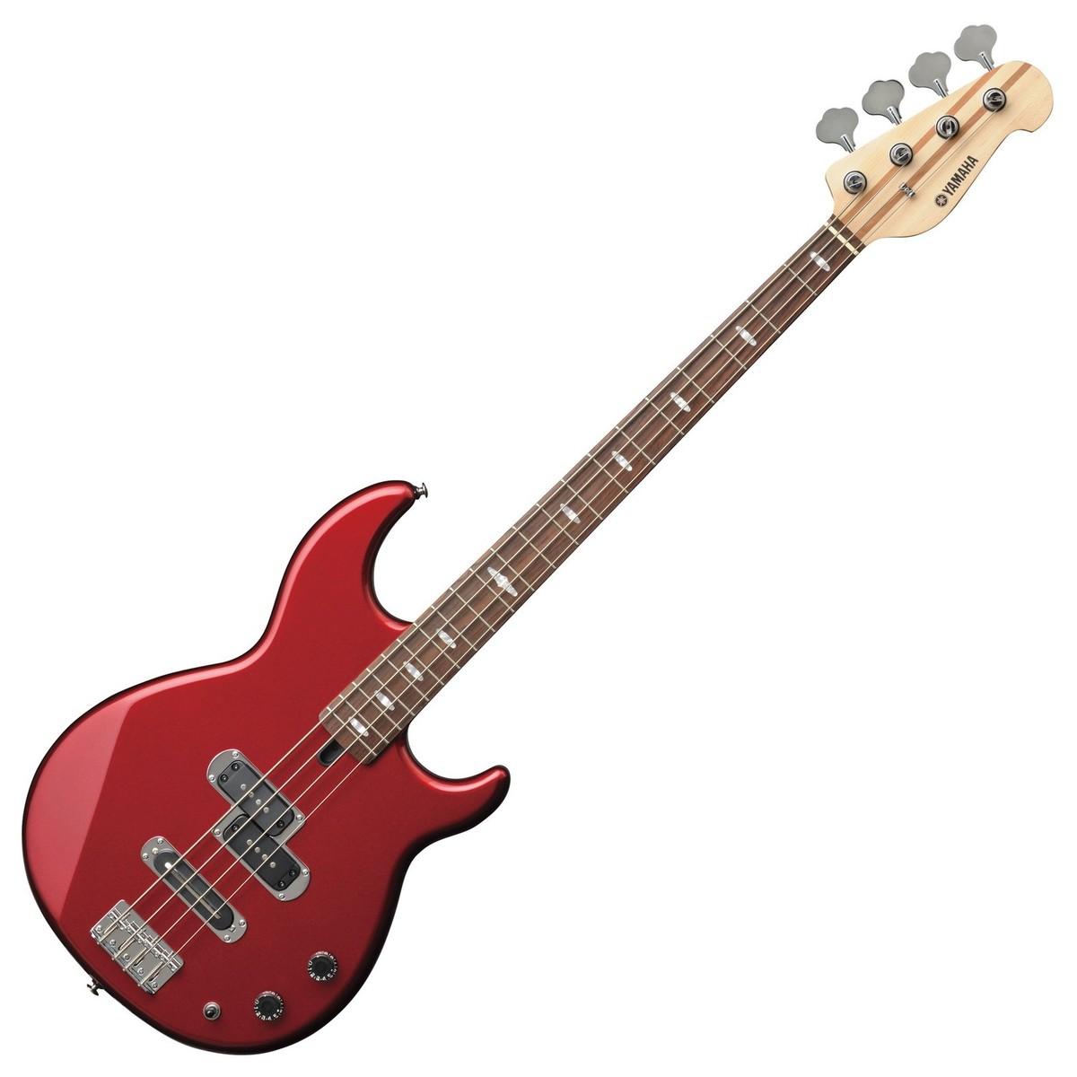 Red Yamaha Bass Guitar