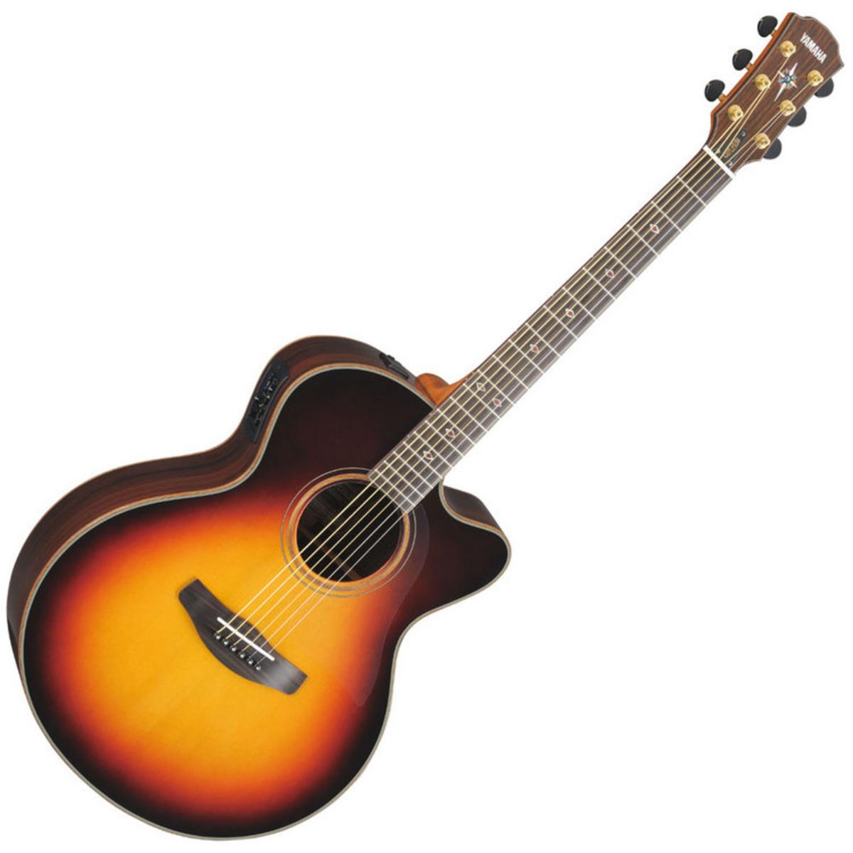 Yamaha cpx1200 electro acoustic guitar vintage sunburst for Where are yamaha guitars made