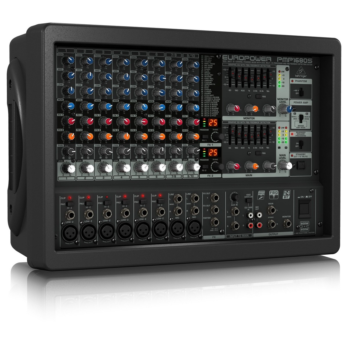 Behringer pmp1680s europower table de mixage gear4music - Table de mixage behringer ...