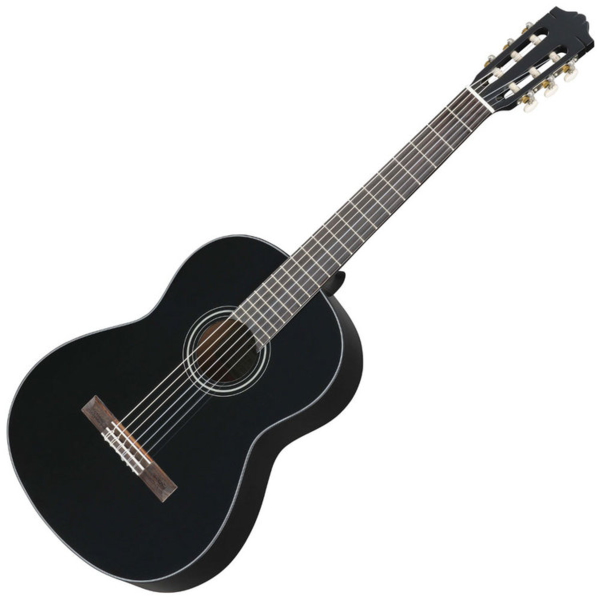 yamaha c40 classical acoustic guitar black en. Black Bedroom Furniture Sets. Home Design Ideas
