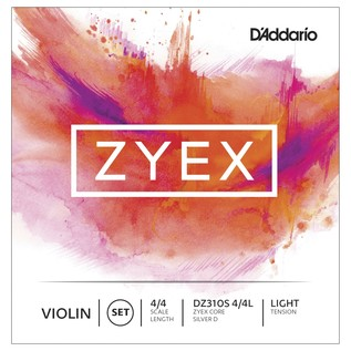 D'Addario Zyex Violin Set Silver D 4/4 Light