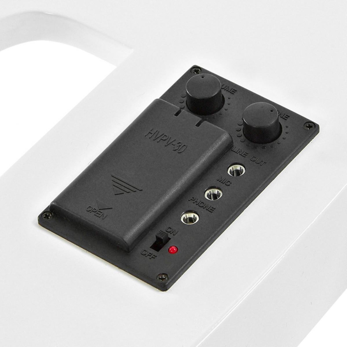 violoncelle lectrique par gear4music blanc pack ampli complet. Black Bedroom Furniture Sets. Home Design Ideas