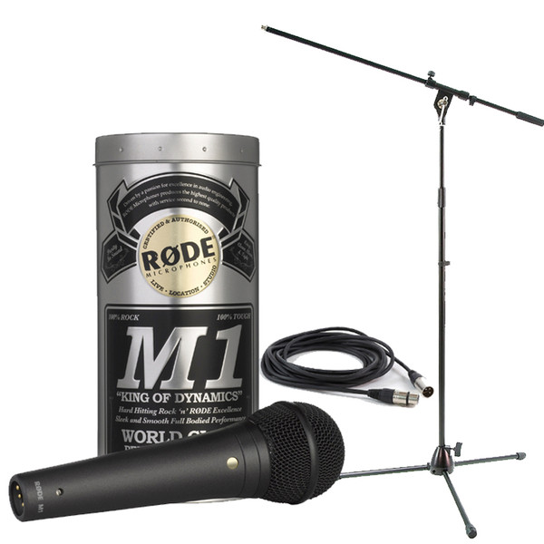 Rode M1 Microphone With Boom Mic Stand and 6m Cable - Full Package