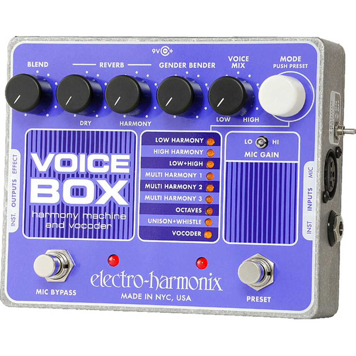 electro harmonix voice box vocoder pedal nearly new at gear4music. Black Bedroom Furniture Sets. Home Design Ideas