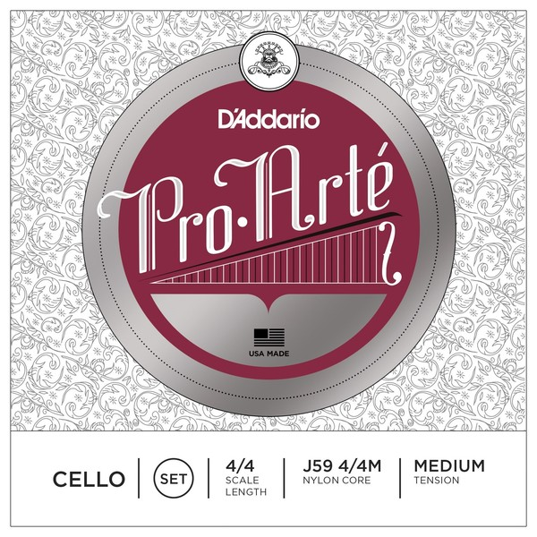 D'Addario Pro-Arte Cello 4/4 Scale Medium Tension Set
