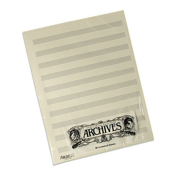 D'Addario Manuscript Score Pads, 10 Stave, 50 Sheet Manuscript Pad