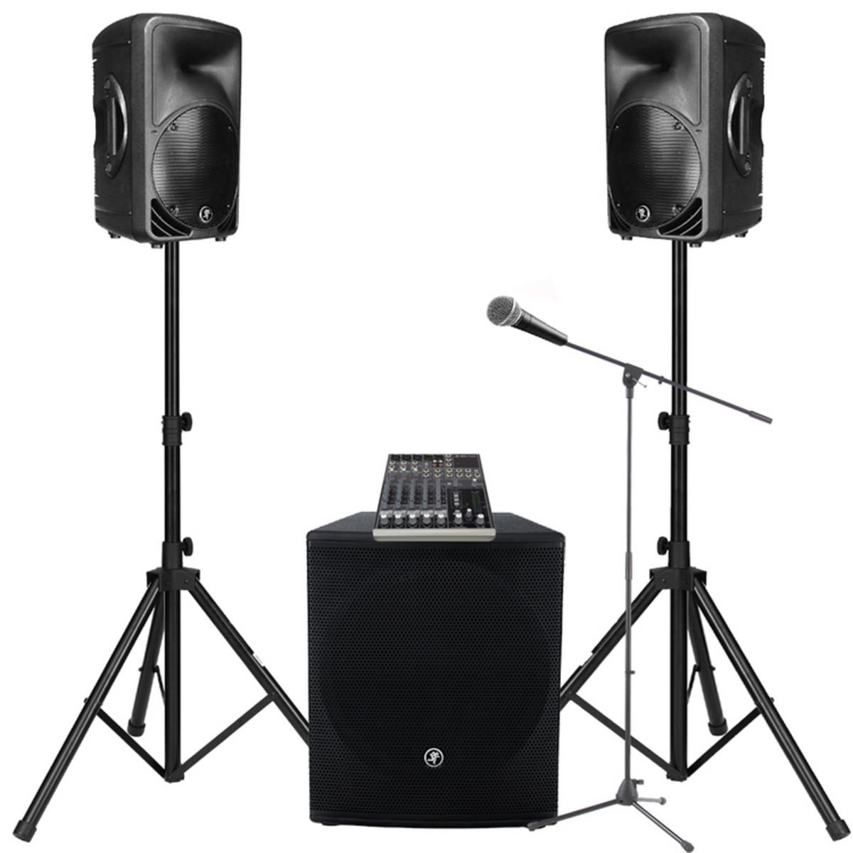 DISC SRM350V2 Mackie PA System + Shure SM58 Bundle bei Gear4music