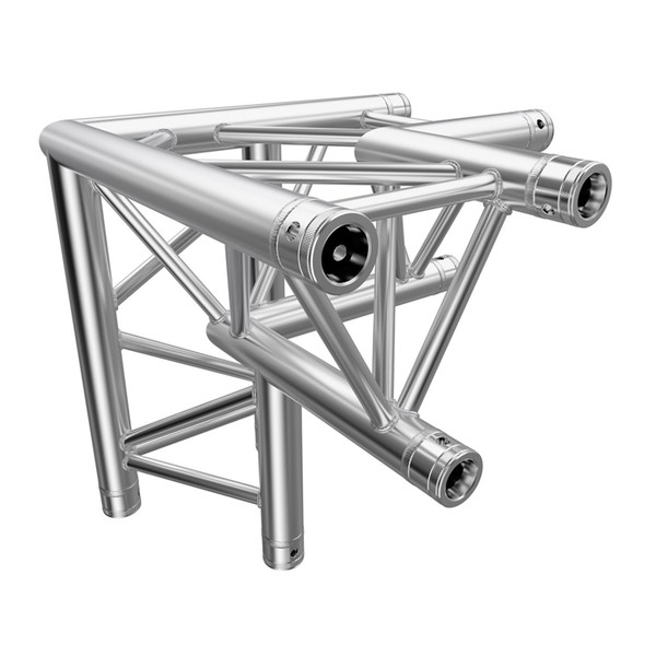 Global Truss 4093-33PL F33 PL 3 Way 90 Degree Corner Apex Down, R/H