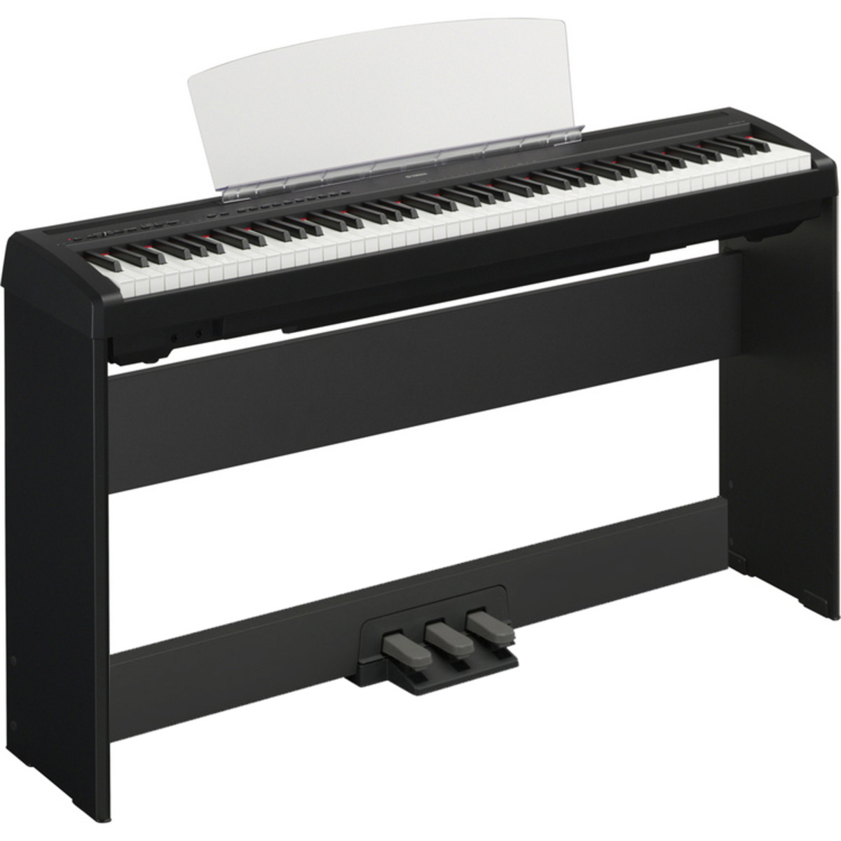 disc yamaha p 95 digital piano stand pedal board black na. Black Bedroom Furniture Sets. Home Design Ideas