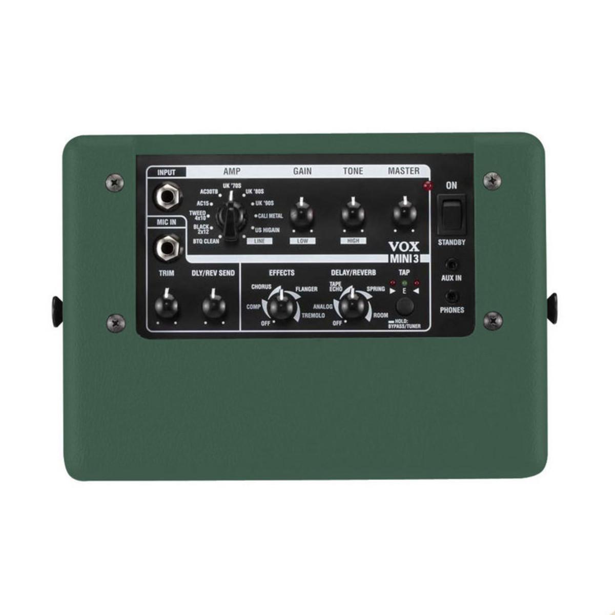 disc vox mini3 modelling guitar amp british racing green at gear4music. Black Bedroom Furniture Sets. Home Design Ideas