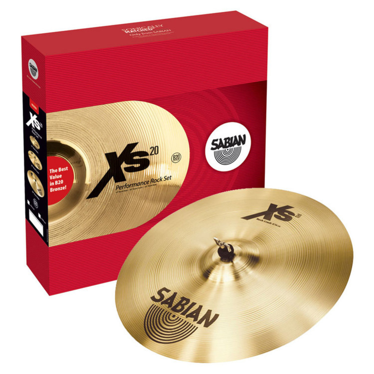 DISC Sabian XS20 Rock Set, Brilliant Finish + Free 18