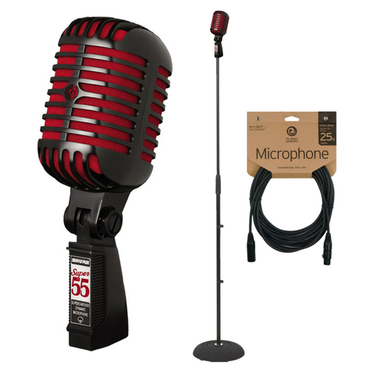 Shure Super 55 Special Edition Mic + Stand and Cable at Gear4music.com