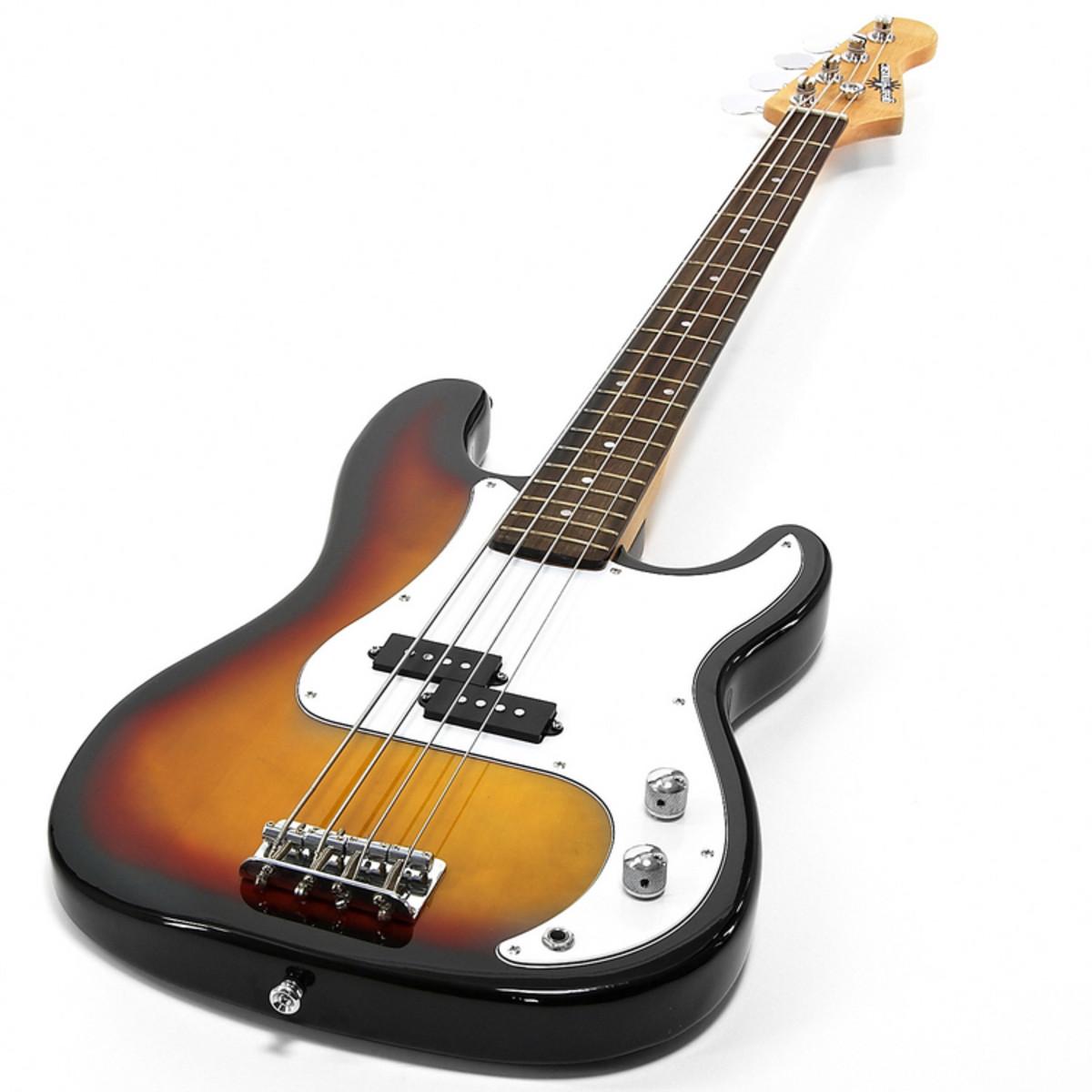 electric g 4 bass guitar sunburst christmas pack at gear4music. Black Bedroom Furniture Sets. Home Design Ideas