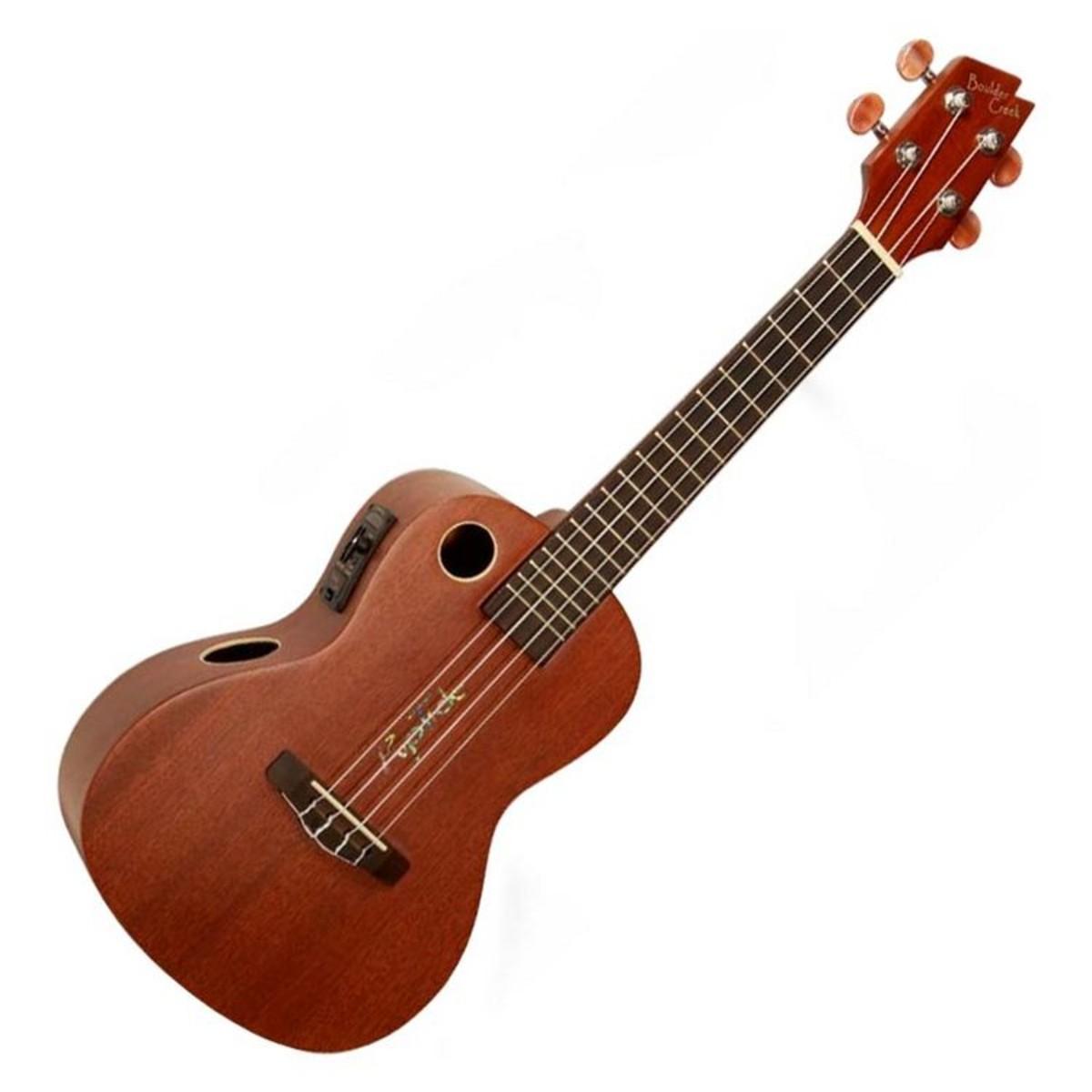 riptide by boulder creek mahogany concert electro ukulele at. Black Bedroom Furniture Sets. Home Design Ideas