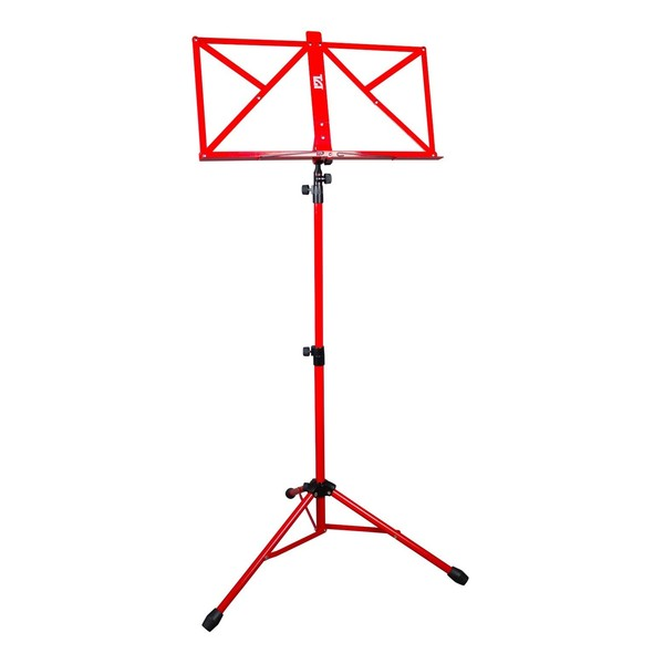 Barnes & Mullins Music Stand Red with Carry Bag