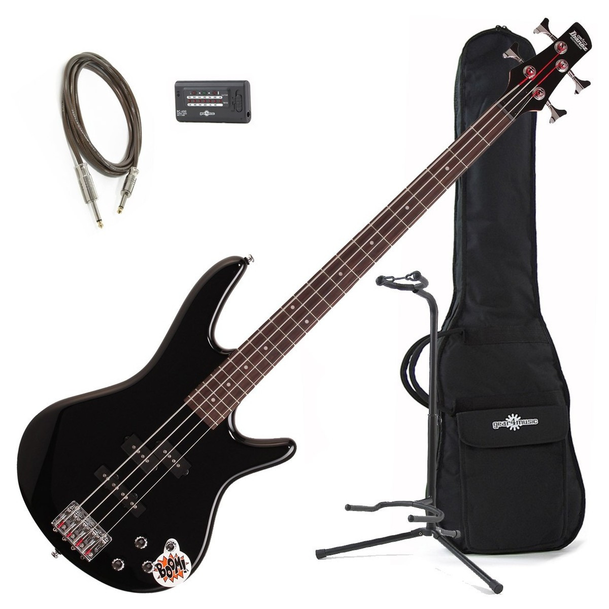 Ibanez GSR200 Gio Bass Guitar Bundle, Black at Gear4music.com