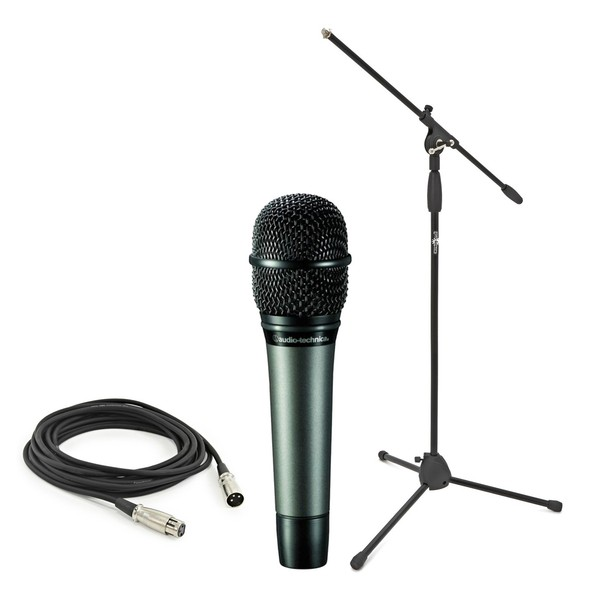 Audio Technica ATM610 With Boom Mic Stand and Cable