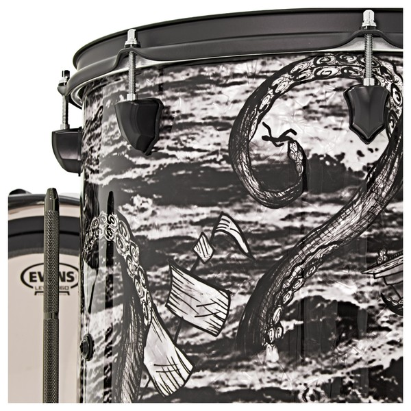 """SJC Drums Custom 3 Piece Shell Pack, """"The Kraken"""" Only One Made!"""