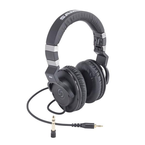 Samson Z35 Studio Headphones, Front Angled Right