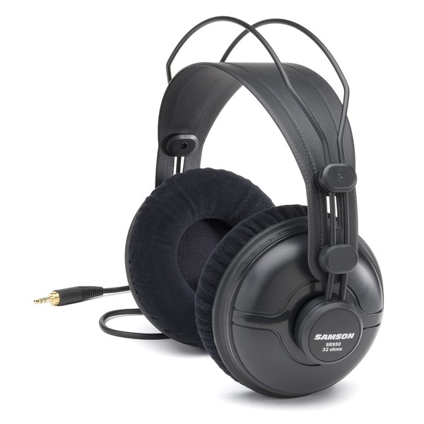 Samson SR950 Studio Reference Headphones - Angled