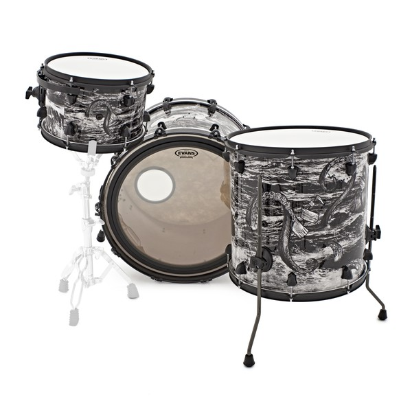 SJC Drums Custom 3 Piece Shell Pack, The Kraken Only One Made!