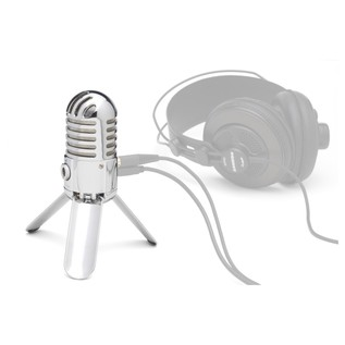 Samson Meteor USB Studio Microphone - Mic Angled (Headphones Not Included)