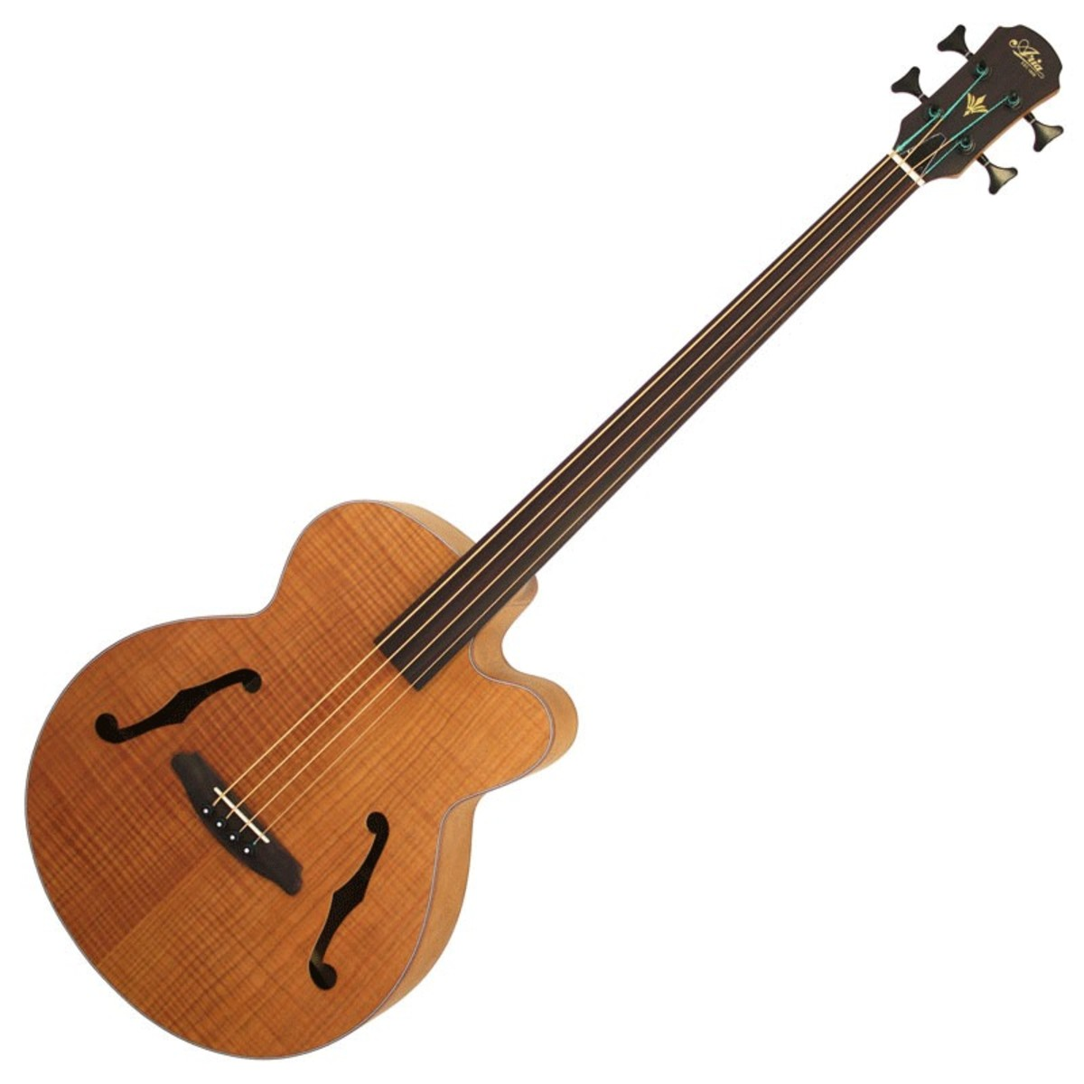 aria feb fretless electro acoustic bass guitar flame natural b stock at gear4music. Black Bedroom Furniture Sets. Home Design Ideas