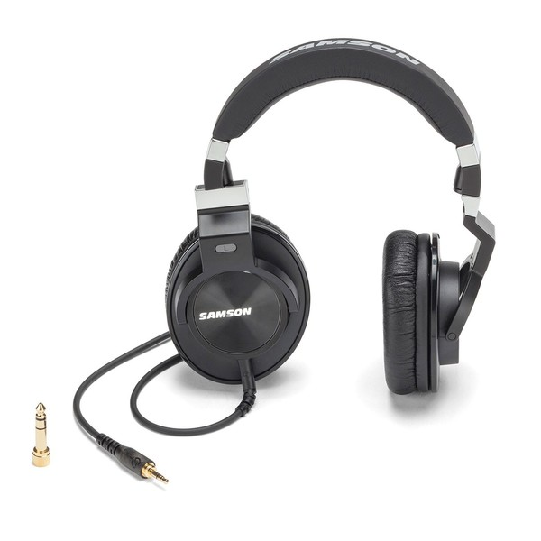 Samson Z55 Studio Headphones, Earcup Front and Side