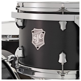 SJC Drums Tour Series 3 Piece Shell Pack , Black, Chrome