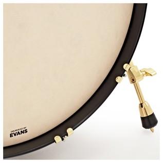 SJC Drums Tour Series 3 Piece Shell Pack, Black Satin Stain Brass HW