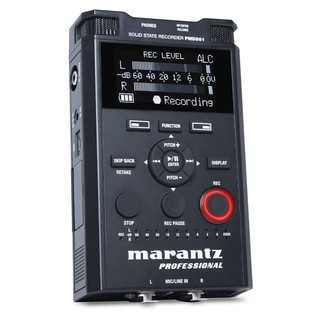 Marantz PMD-561 Handheld 4-Channel Solid State Recorder - Angled Front