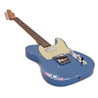 Fender Custom Shop LTD HS Tele, Aged LP Blue over Blue Flower