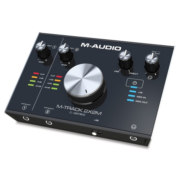 M-Audio M-Track 2x2M Audio Interface - Front Angled