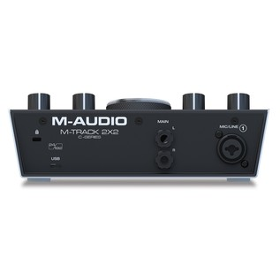 M-Audio M-Track 2x2 Audio Interface - Rear