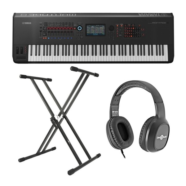Yamaha MONTAGE 8 with Free Headphones and Stand - Full Bundle