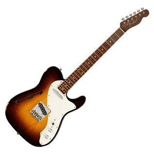 Fender Custom Shop LTD 50s Thinline Tele, Wide Faded 2-Color Sunburst
