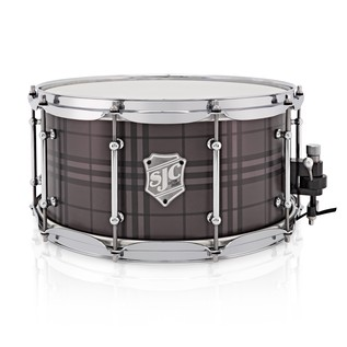 SJC Drums Custom 14x6.5 Snare Drum, Plaid Chrome HW
