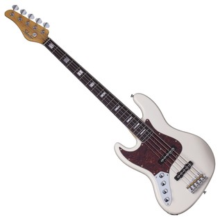 Schecter Diamond-J 5 Plus Left Handed Bass Guitar, Ivory