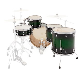 WHD Birch 5 Piece Rock Custom Shell Pack, Green Burst